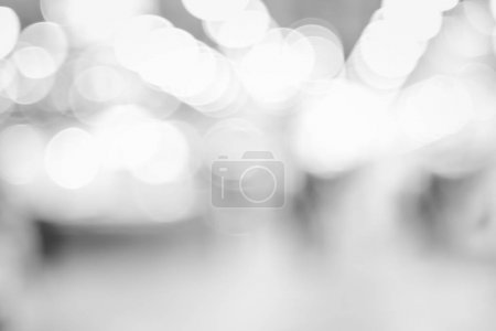 Blurred background abstract black and white bokeh light