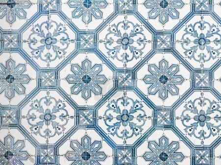 ceramic Portuguese blue tiles