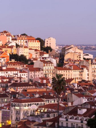 Cityscape of Lisbon at sunset