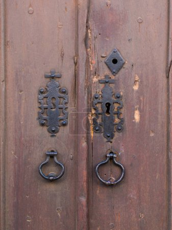 Old brown wooden doors