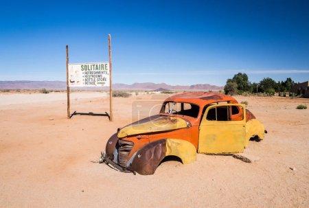 Old car wreck in the Namib Desert