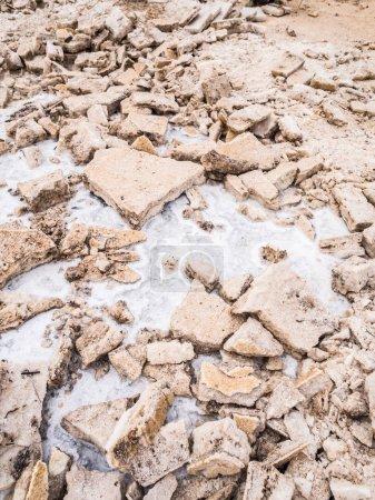 Salt flats in Afar region, Danakil