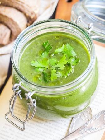 Grean vegan cream soup