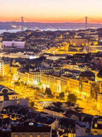 evening cityscape of Lisbon