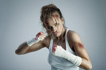 Aggressive female fighter