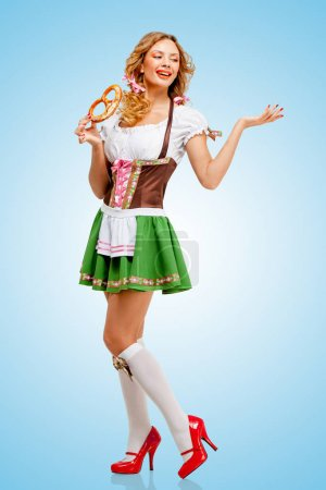 Oktoberfest woman wearing a traditional Bavarian clothes