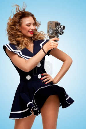 Retro photo of a pin-up girl