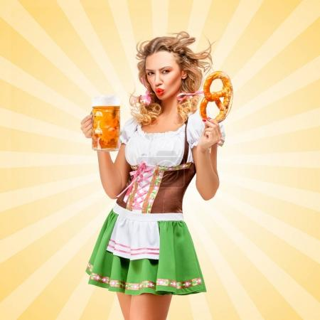Beautiful sexy Oktoberfest waitress