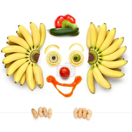 clown made of vegetables