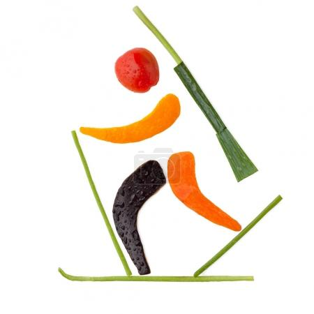 Fruits and vegetables creative concept