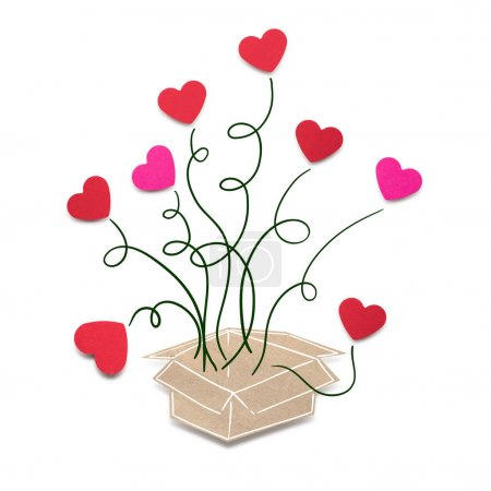 Creative valentines concept