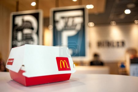 Minsk, Belarus, May 6, 2018: Big Mac Box with McDo...