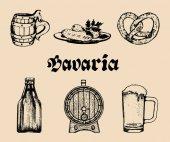 Bavaria hand-drawn banner