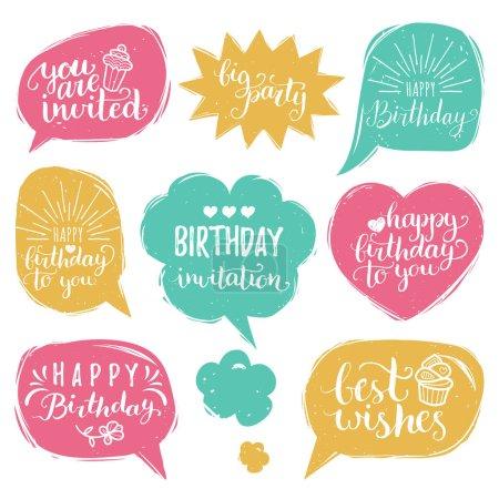 birthday letterings set