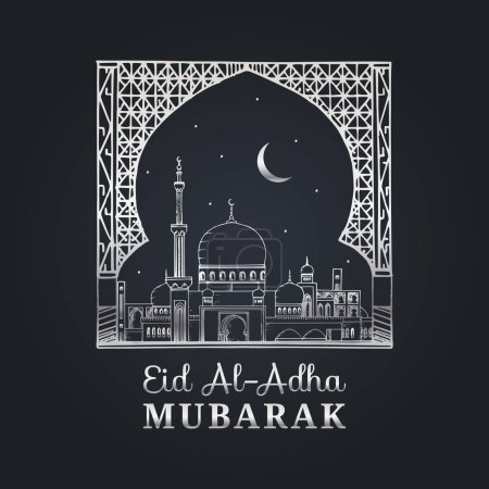 Eid al-Adha greeting card