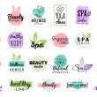 Health and beauty care logos or labels, vector ill...