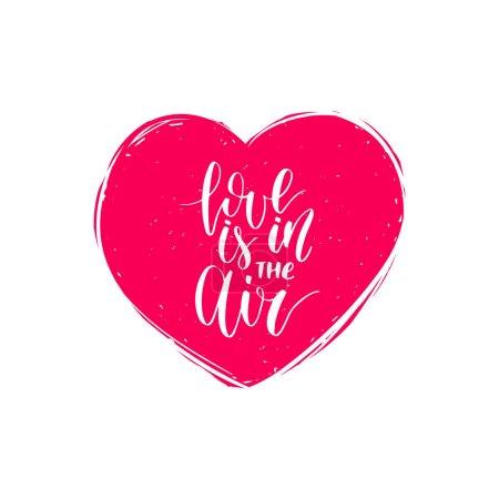 Valentines day handwritten card