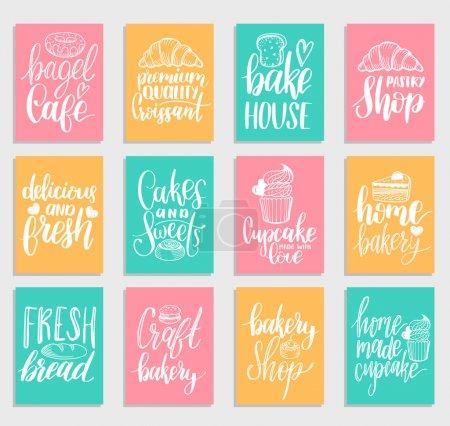 coloured bakery labels set
