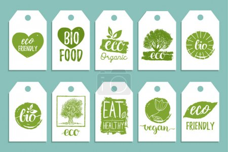 coloured organic food labels