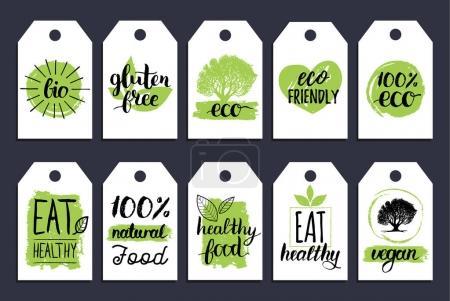 coloured organic food labels