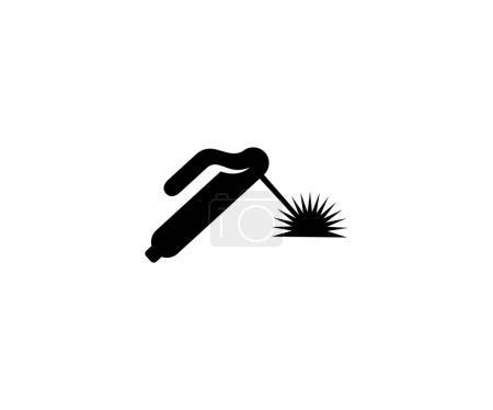 Illustration pour Modèle de logo de soudage et d'étincelle. Conception vectorielle de soudage à l'argon. Illustration d'outils de soudage - image libre de droit