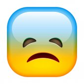 Sad emoticon icon