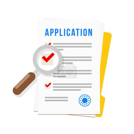 Illustration pour Icône de formulaire de demande, illustration vectorielle - image libre de droit