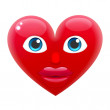 Heart Girl Emoticon, vector illustration...