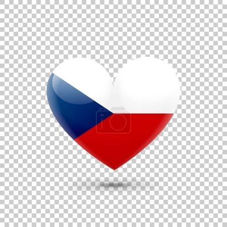 Czech Flag Heart Icon