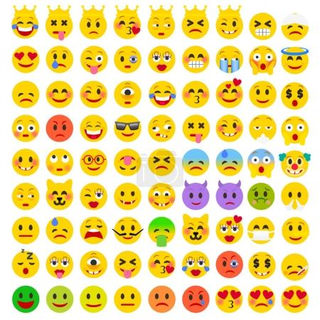 Set of Emoji icons