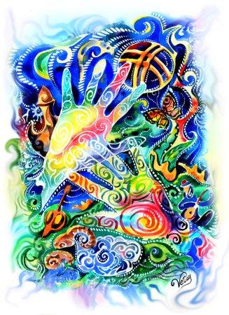 abstraction, peinture, mains, shanyrak, enos de kazakhstan, peinture, panneau lumineux, motif oriental, style asiatique, Asie, est modèle de Kazakh, aziata ornement, epos, ethnica, imprimer pour peinture, panneau sur le mur, panneaux modulaires, photo pour les enfants, brig