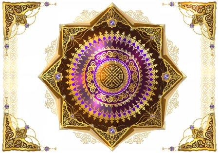 golden symbols of Kazakh art
