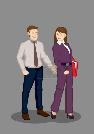 Workplace Sexual Harassment Vector Illustration