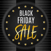 Stylish Black Friday banner with gold accents