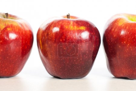 Red apple fitnes concept with centimeter. Weight l...