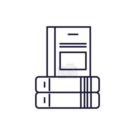Books line style icon design, Education literature...