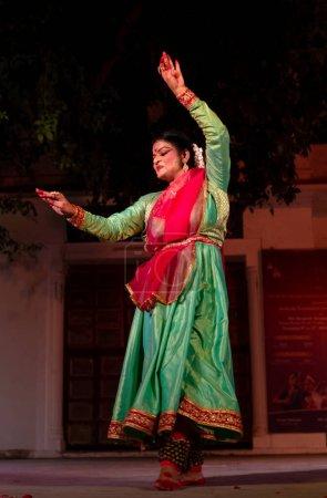 Indian Classic Dancer performing  classical Kathak...