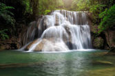 Huay Mae Khamin, Paradise Waterfall located in deep forest of Th