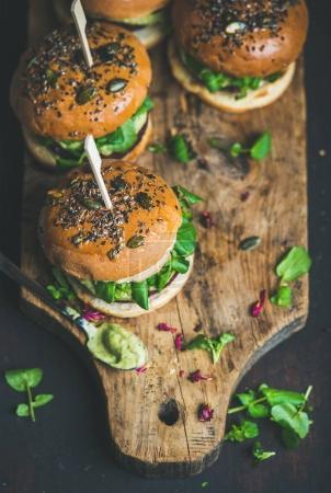 Healthy vegan burgers