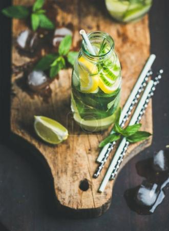 Citrus fruit and herbs infused sassi water