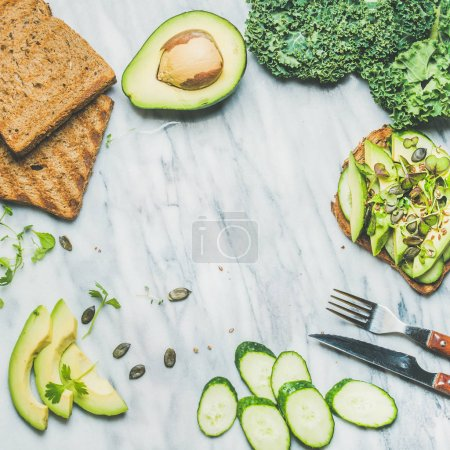 Healthy green veggie breakfast