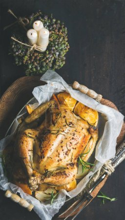 roasted chicken with oganges