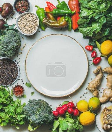 Clean eating healthy cooking ingredients