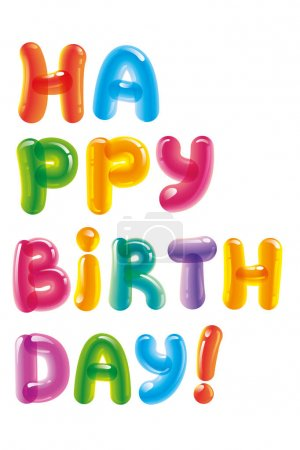 Congratulations with the day of birth. Birthday gr...