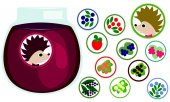 Berries stickers collection