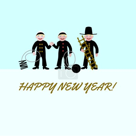 Three chimney sweeps for good luck.