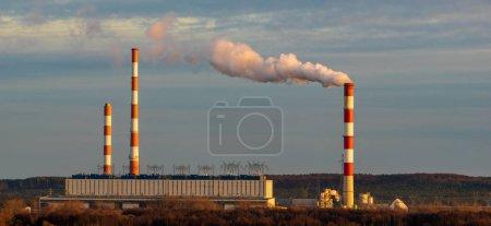 Kohlekraftwerk zur Verbrennung ökologischer Brennstoffe - gr