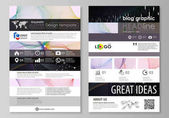 Blog graphic business templates Page website design template vector layout Colorful abstract infographic background in minimalist style made from lines symbols charts other elements