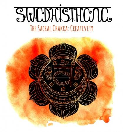 Watercolor and graphic illustration, esoteric drawings