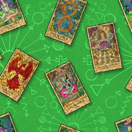 Photo pour Illustration d'ésotérique et occulte avec concept espace, wicca et païen de copie - image libre de droit